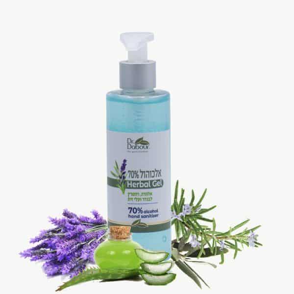 אלכוהול ג'ל 70% – Herbal gel